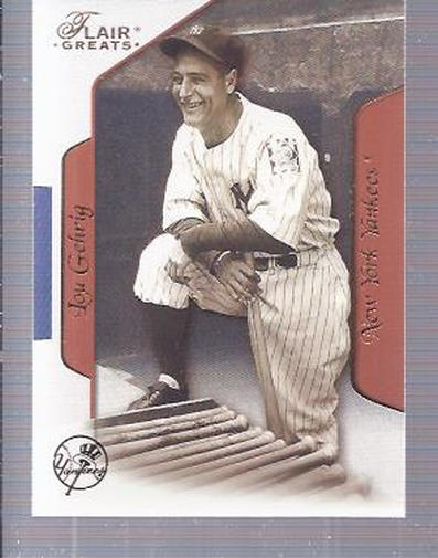 2003 Flair Greats #83 Lou Gehrig