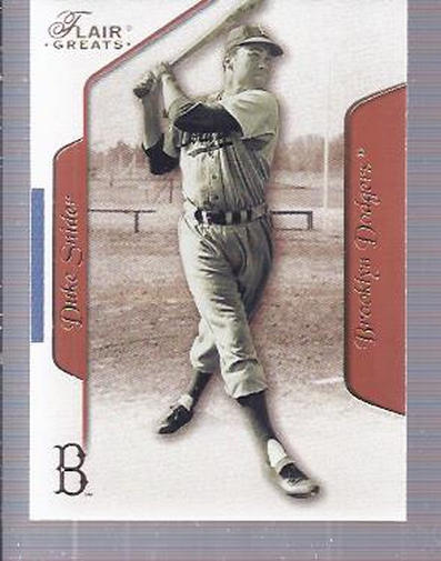 2003 Flair Greats #87 Duke Snider front image