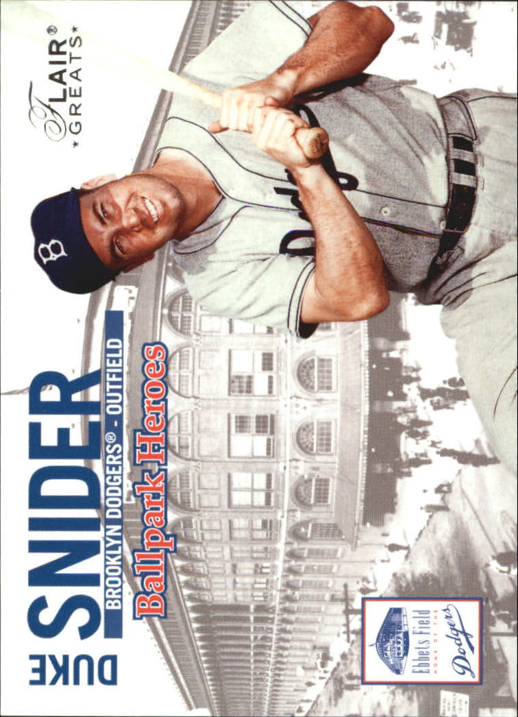 2003 Flair Greats Ballpark Heroes #7 Duke Snider
