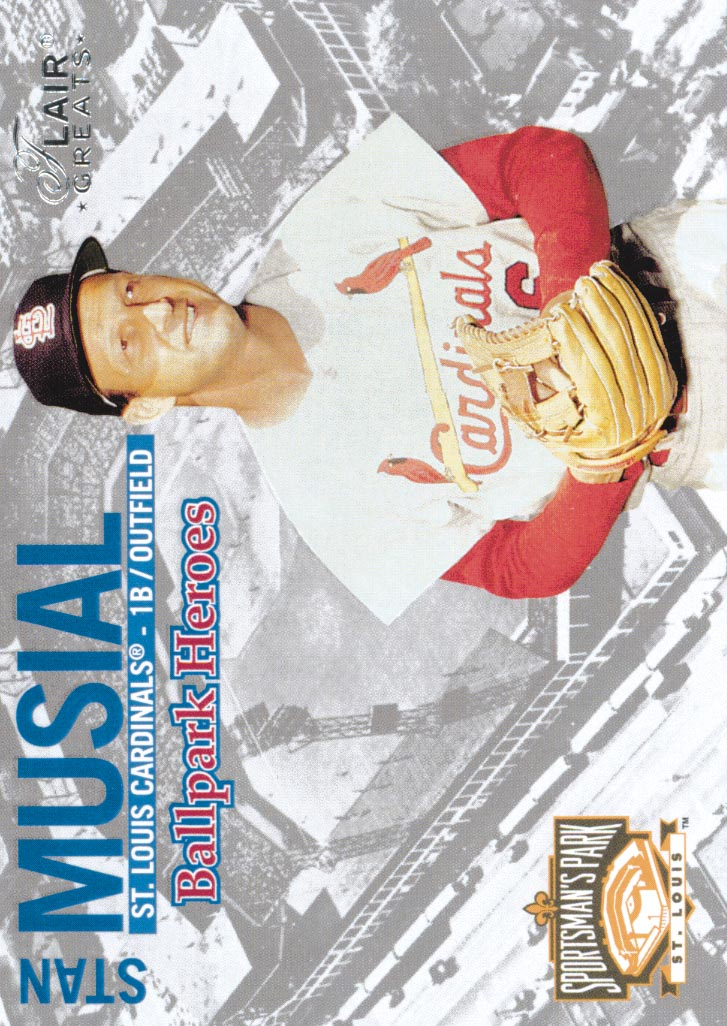 2003 Flair Greats Ballpark Heroes #9 Stan Musial