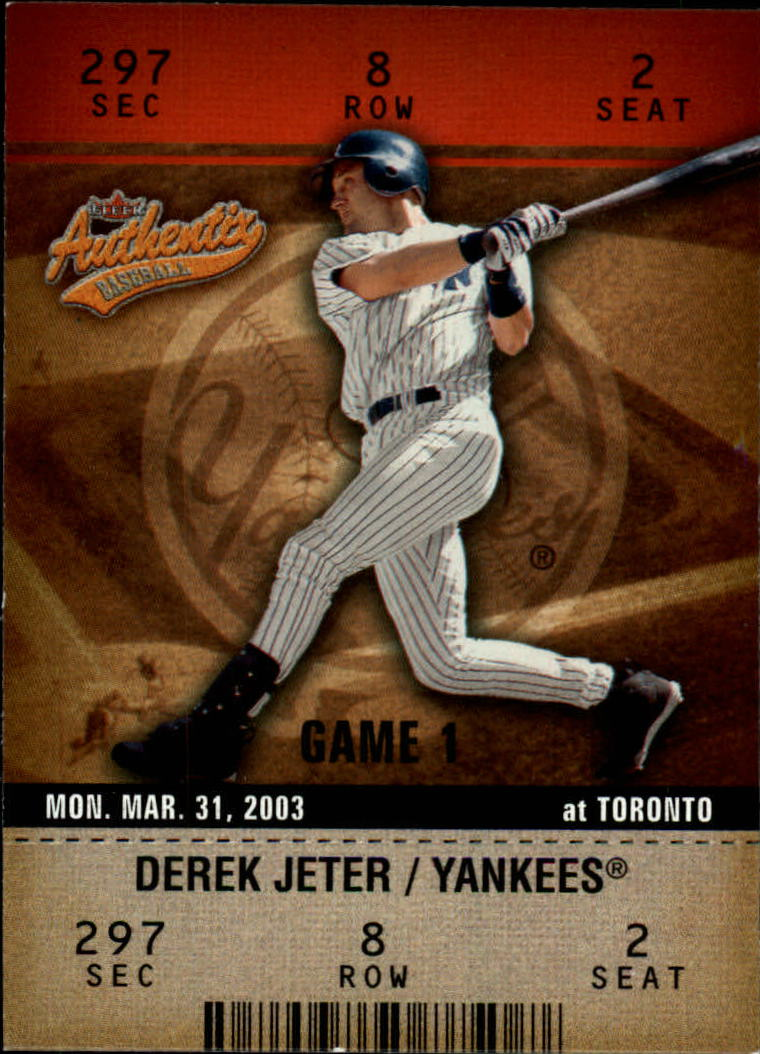 2003 Fleer Authentix #1 Derek Jeter