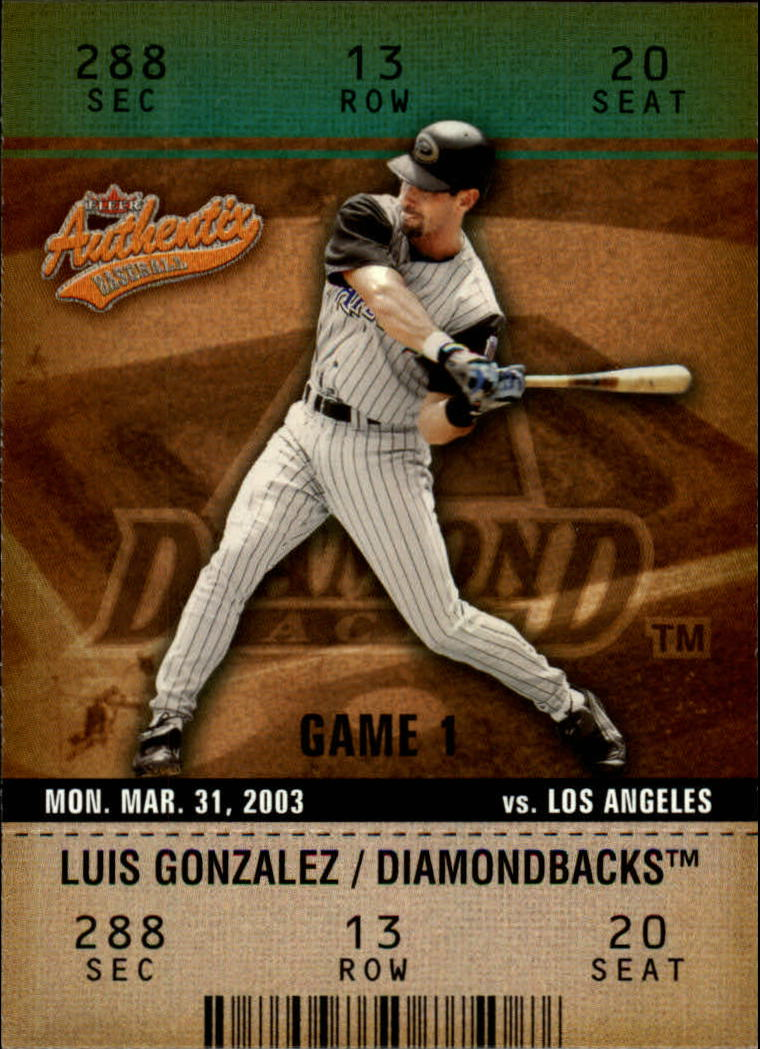 2003 Fleer Authentix #8 Luis Gonzalez