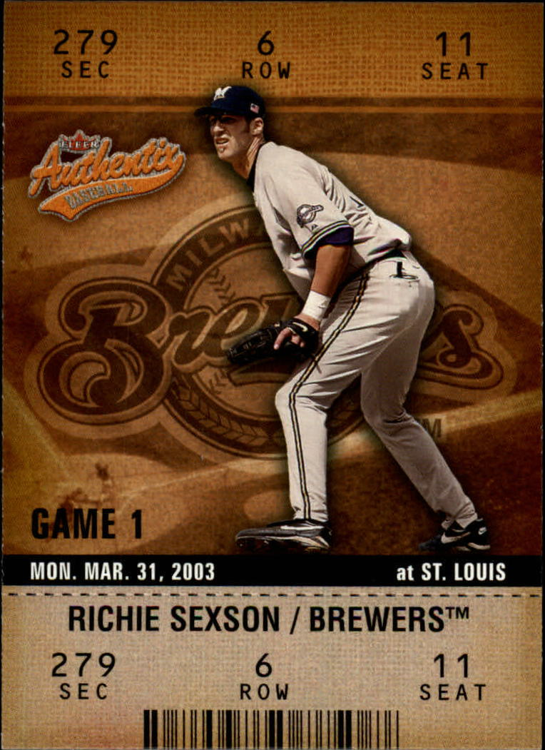 2003 Fleer Authentix #12 Richie Sexson