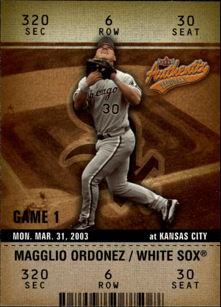 2003 Fleer Authentix #17 Magglio Ordonez
