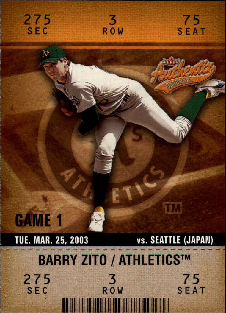 2003 Fleer Authentix #19 Barry Zito