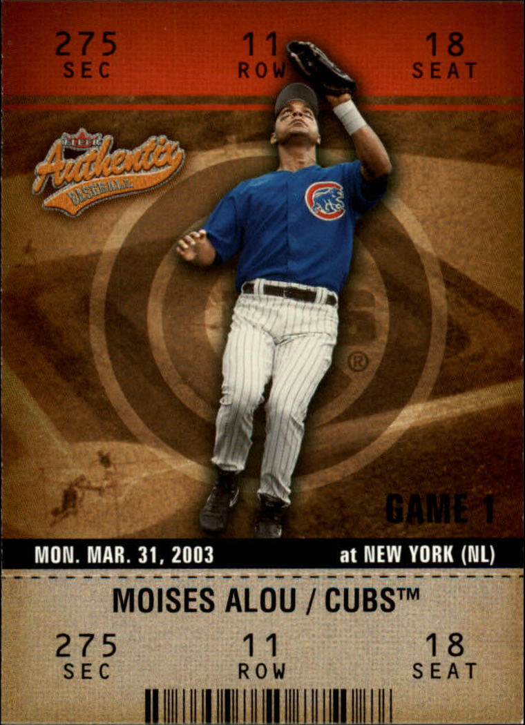 2003 Fleer Authentix #21 Moises Alou