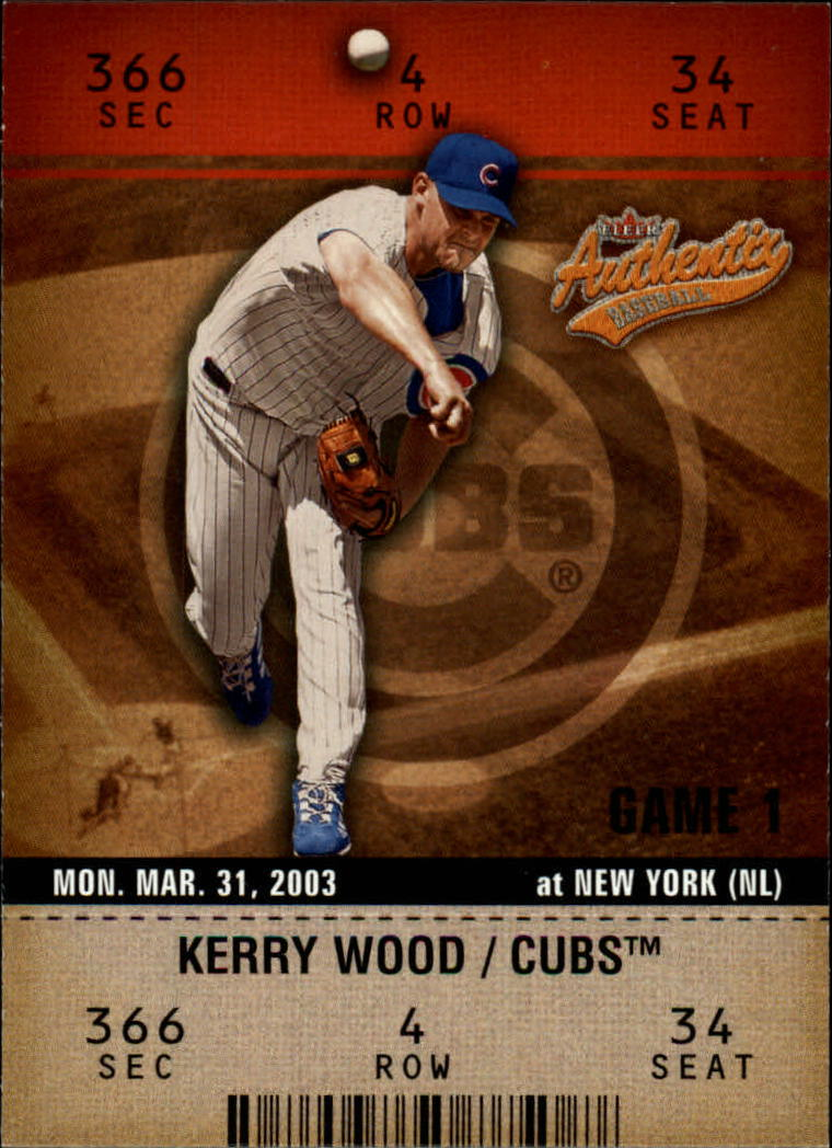 2003 Fleer Authentix #40 Kerry Wood