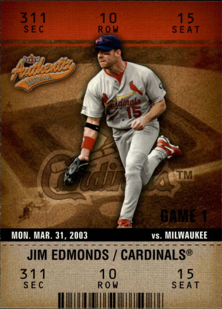 2003 Fleer Authentix #46 Jim Edmonds