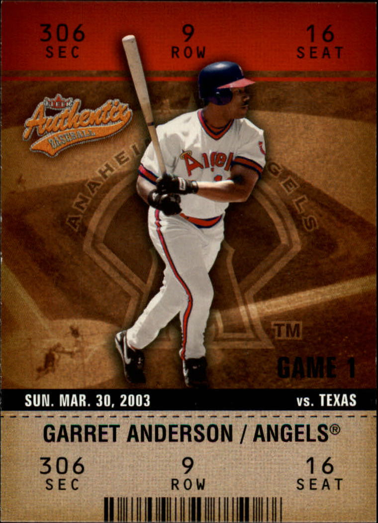 2003 Fleer Authentix #47 Garret Anderson