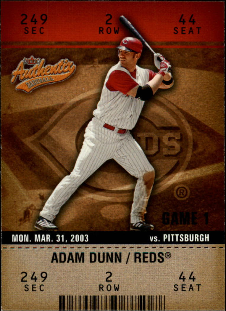 2003 Fleer Authentix #49 Adam Dunn