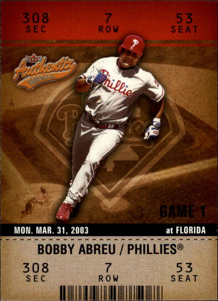 2003 Fleer Authentix #53 Bobby Abreu