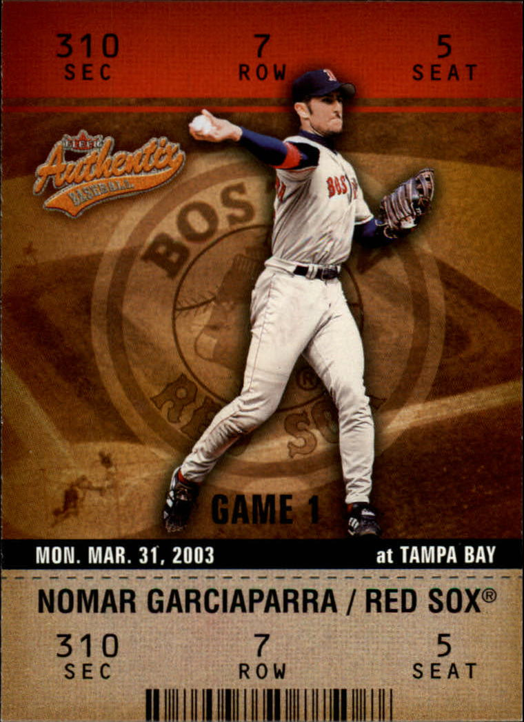 2003 Fleer Authentix #64 Nomar Garciaparra