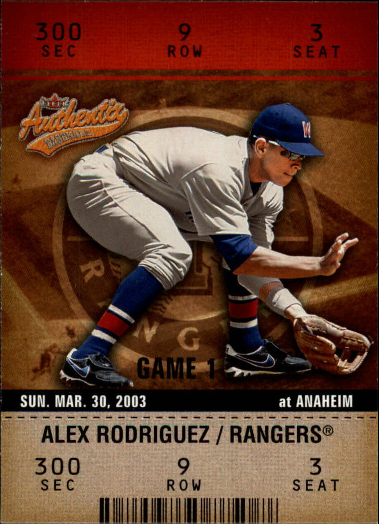 2003 Fleer Authentix #73 Alex Rodriguez