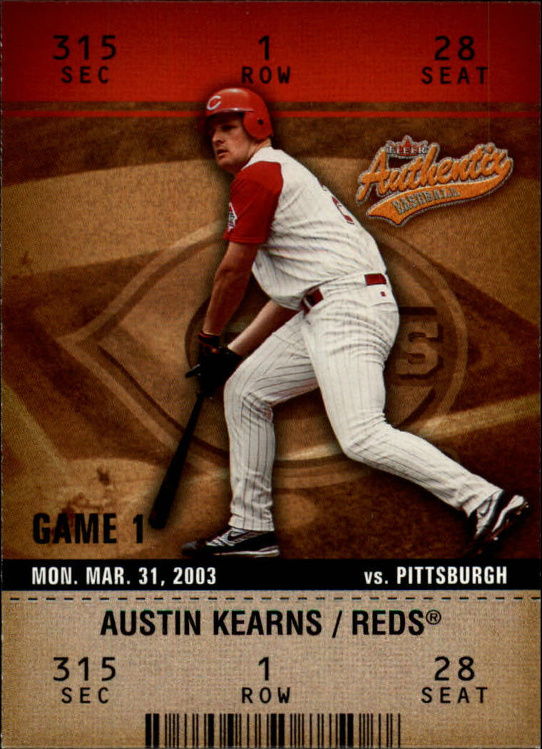 2003 Fleer Authentix #74 Austin Kearns