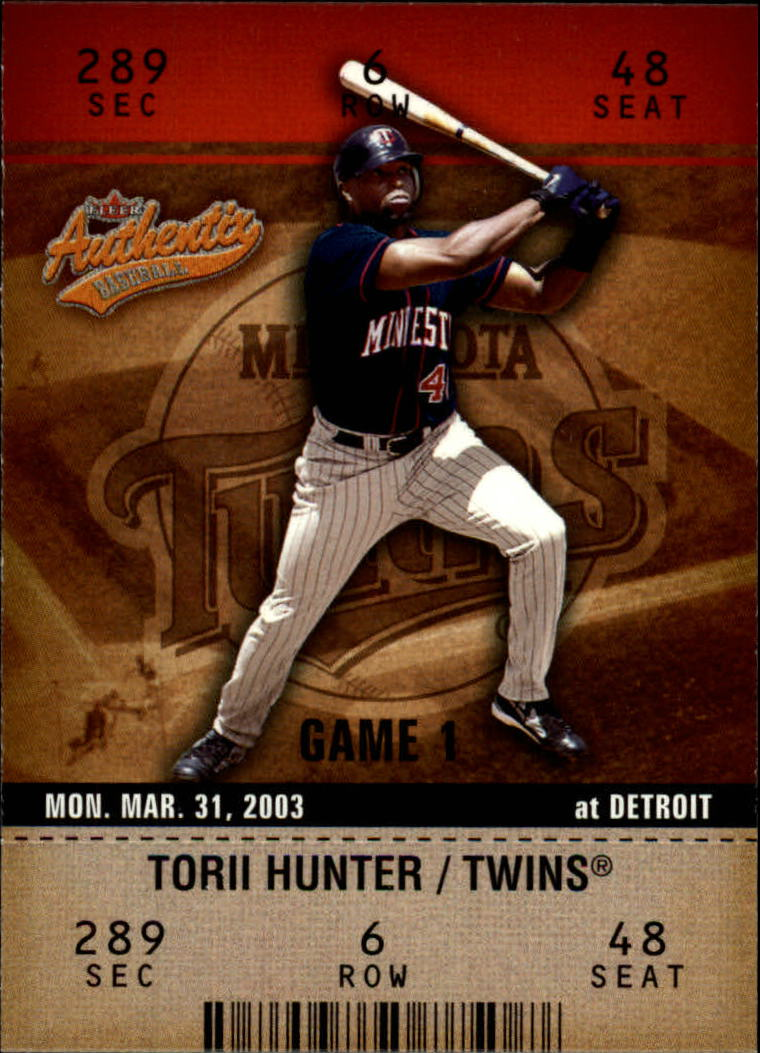 2003 Fleer Authentix #86 Torii Hunter