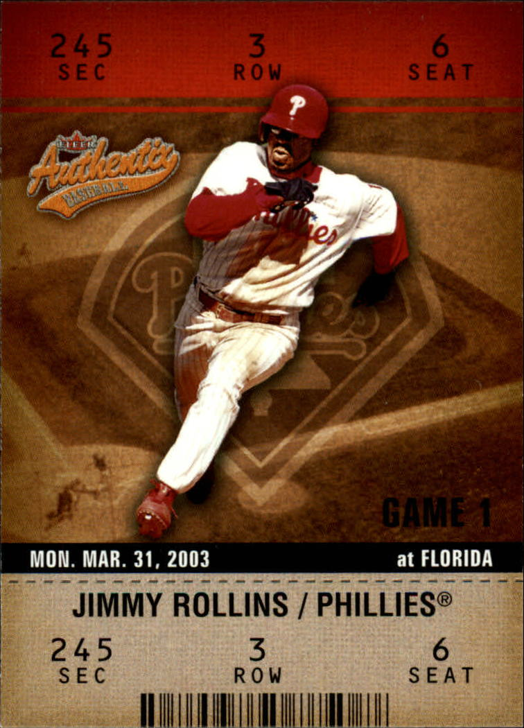 2003 Fleer Authentix #92 Jimmy Rollins