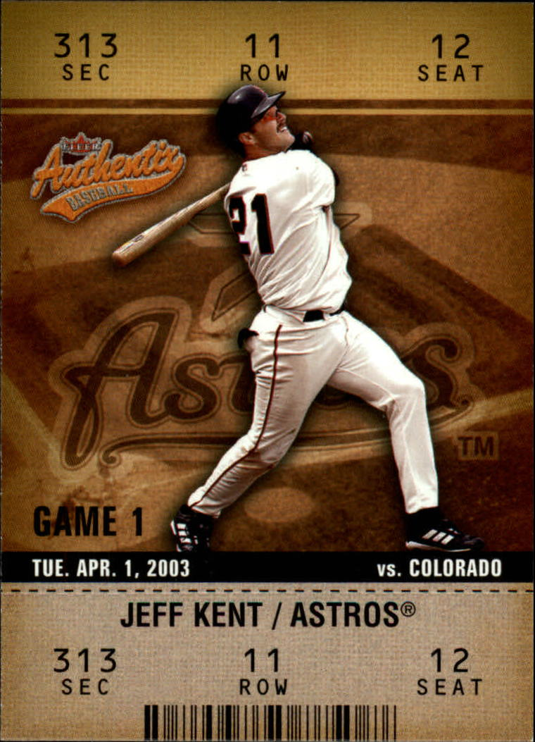 2003 Fleer Authentix #99 Jeff Kent