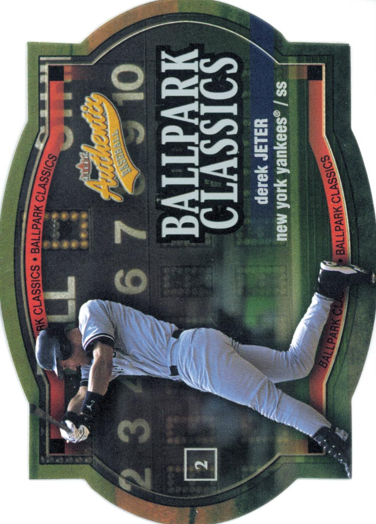 2003 Fleer Authentix Ballpark Classics #1 Derek Jeter