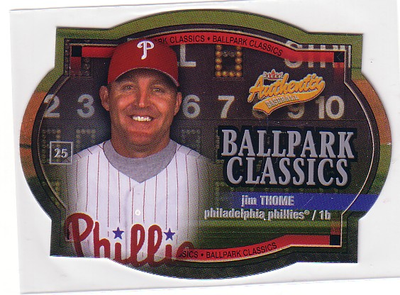 2003 Fleer Authentix Ballpark Classics #7 Jim Thome