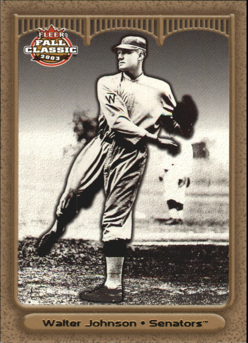 2003 Fleer Fall Classics Championship Gold #29 Walter Johnson