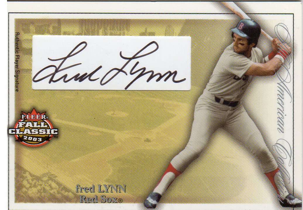 2003 Fleer Fall Classics All-American Autographs 100 #FL Fred Lynn
