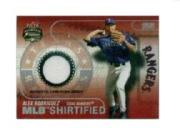 2003 Fleer Focus JE MLB Shirtified Game Jersey #AR Alex Rodriguez
