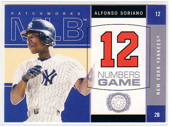 2003 Fleer Patchworks Numbers Game #9 Alfonso Soriano