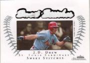 2003 Fleer Showcase Sweet Stitches Game Jersey #JD J.D. Drew/899