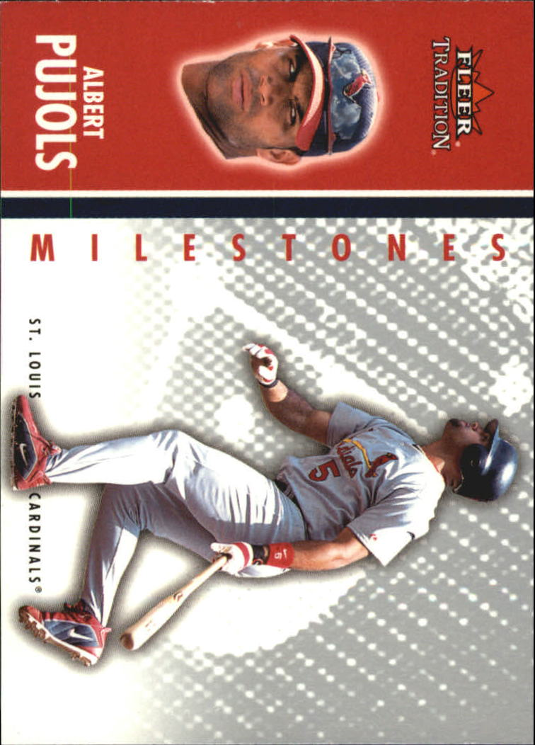 2003 Fleer Tradition Update Milestones #6 Albert Pujols