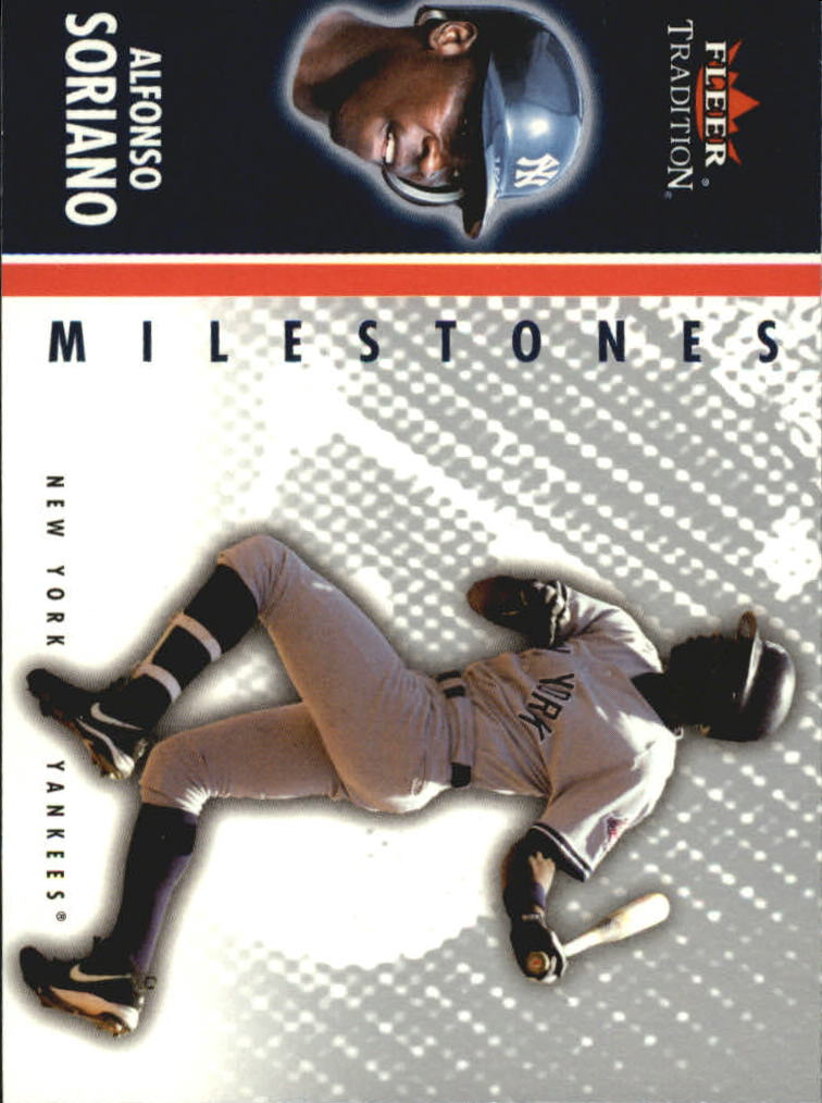 2003 Fleer Tradition Update Milestones #8 Alfonso Soriano