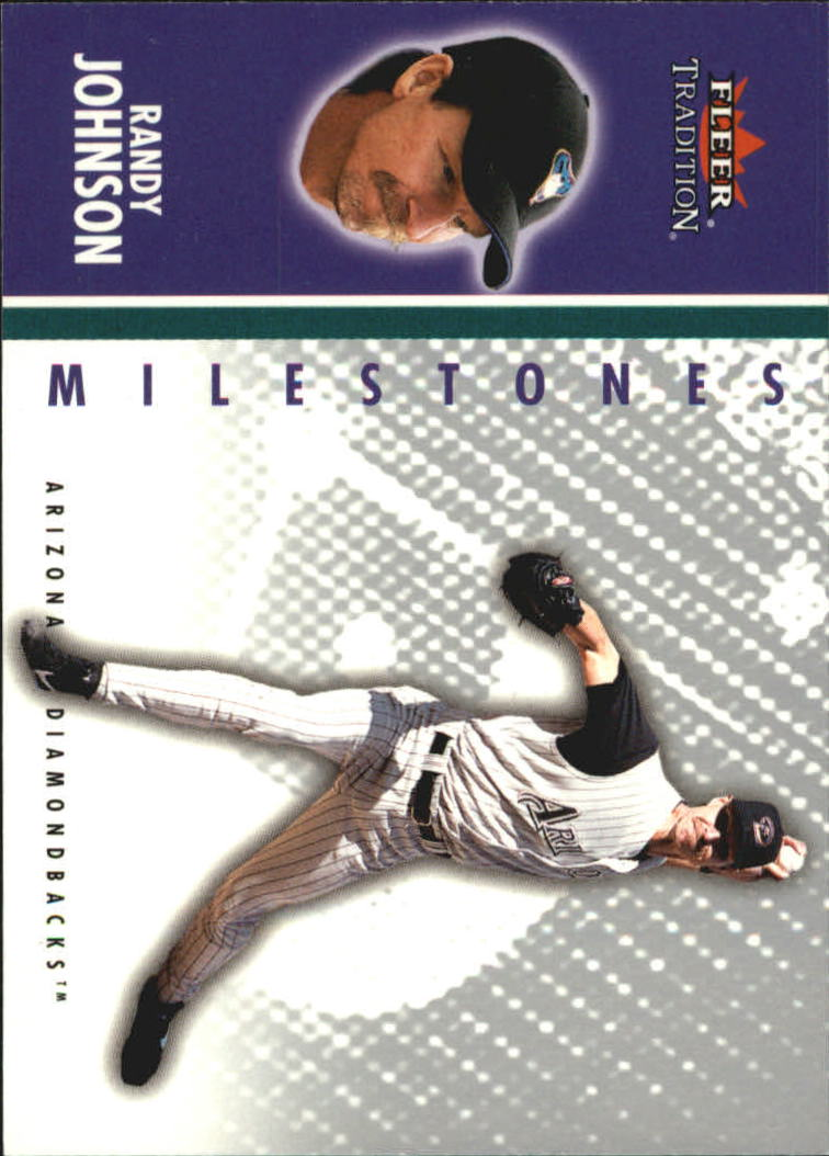 2003 Fleer Tradition Update Milestones #10 Randy Johnson