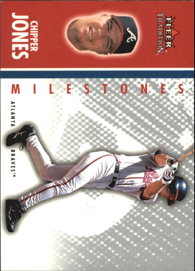 2003 Fleer Tradition Update Milestones #12 Chipper Jones