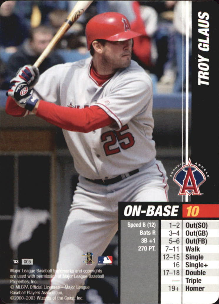 2003 MLB Showdown #5 Troy Glaus