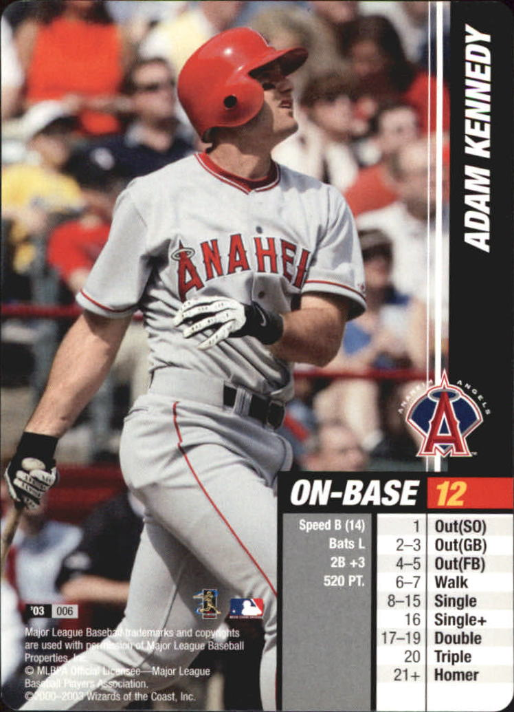 2003 MLB Showdown #6 Adam Kennedy