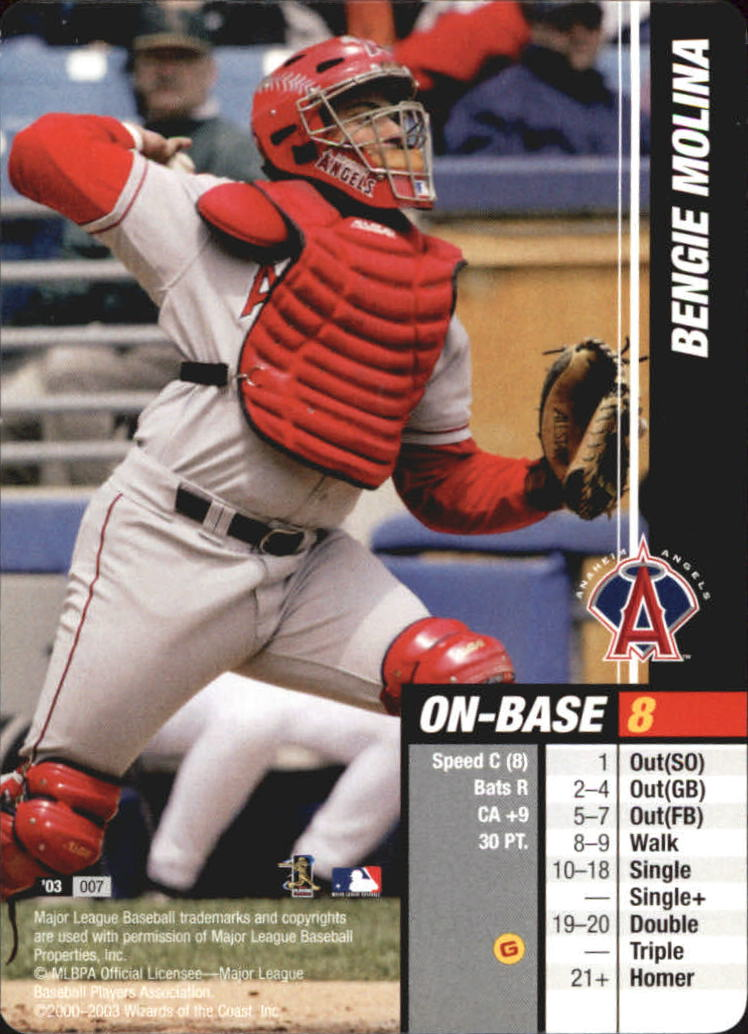 2003 MLB Showdown #7 Bengie Molina