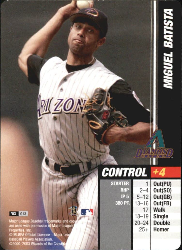 2003 MLB Showdown #13 Miguel Batista