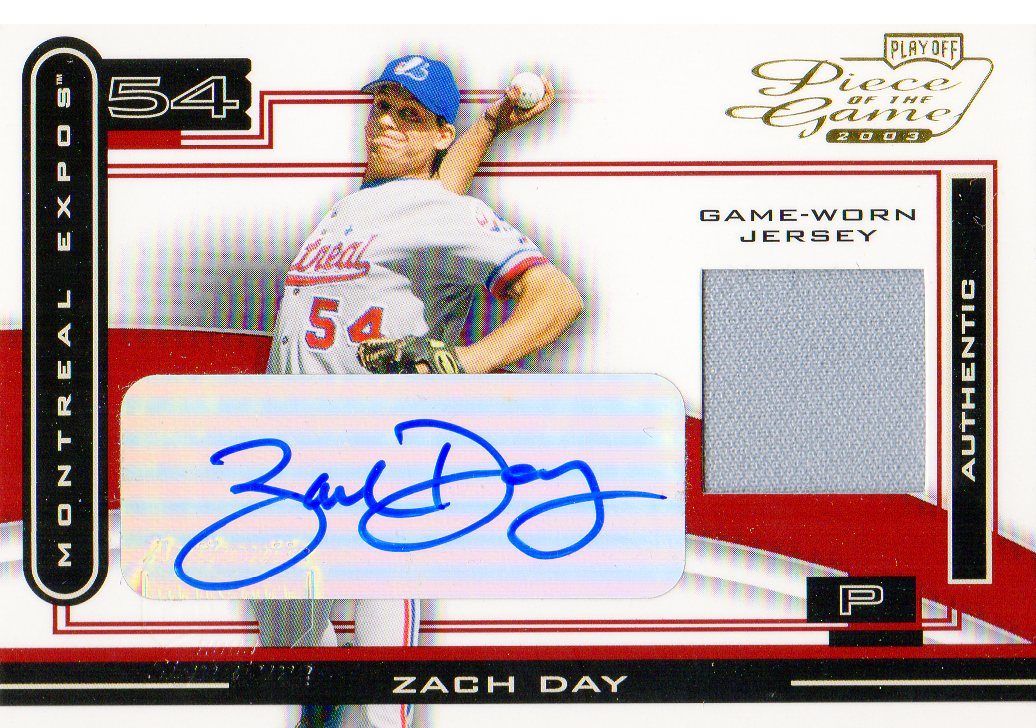 2003 Playoff Piece of the Game Autographs #19 Zach Day Jsy