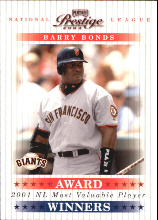 2003 Playoff Prestige Award Winners #2 Barry Bonds MVP/2001