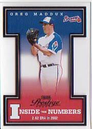 2003 Playoff Prestige Inside the Numbers #2 Greg Maddux
