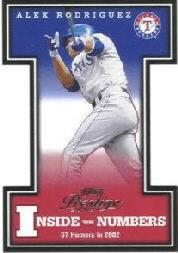 2003 Playoff Prestige Inside the Numbers #4 Alex Rodriguez