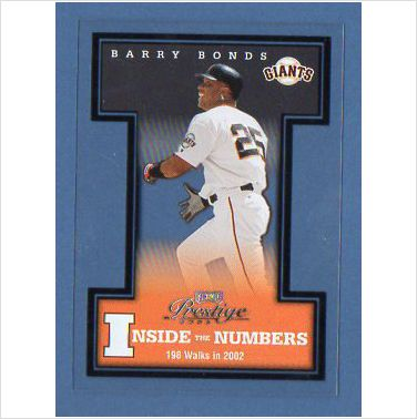 2003 Playoff Prestige Inside the Numbers #18 Barry Bonds