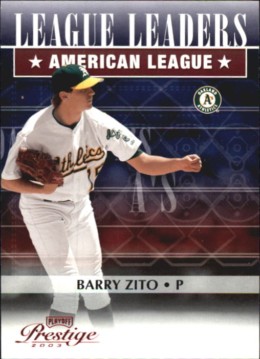 2003 Playoff Prestige League Leaders #10 Barry Zito Wins