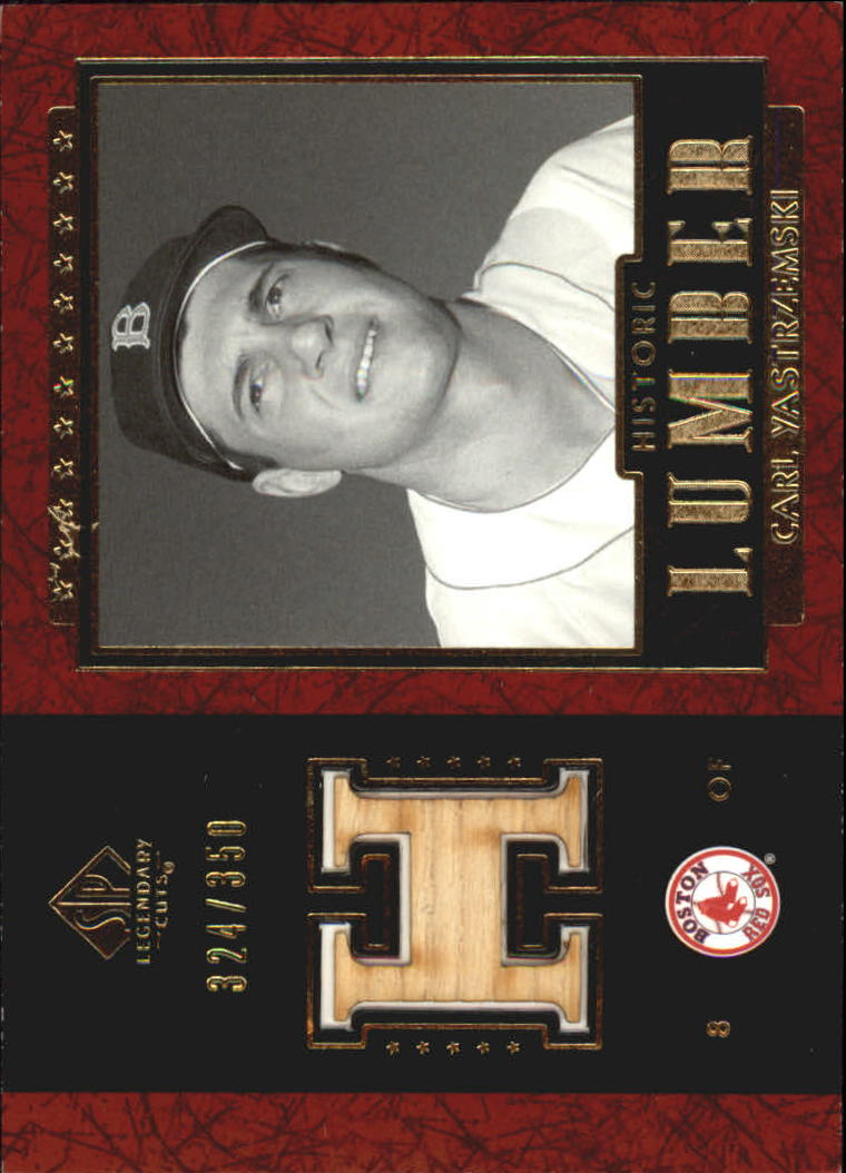 2003 SP Legendary Cuts Hall Marks Autographs #CY1 Carl Yastrzemski Black/45