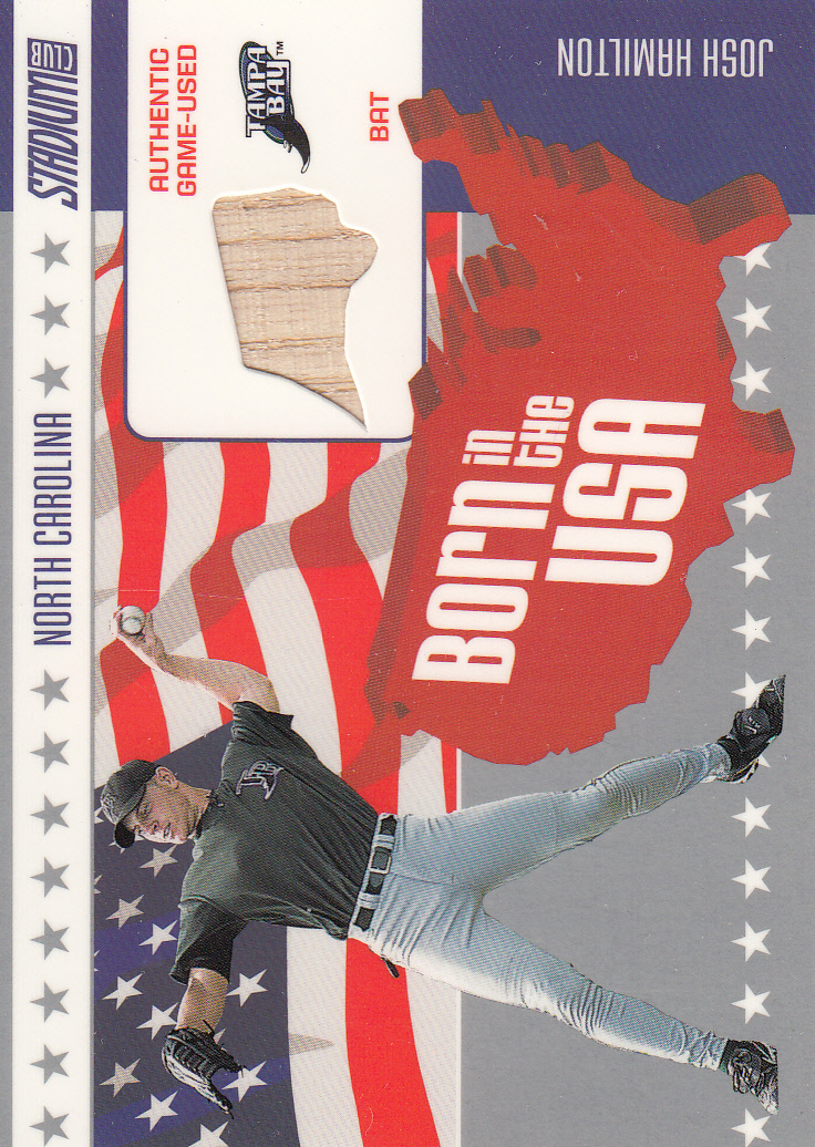 2003 Stadium Club Born in the USA Relics #JH Josh Hamilton