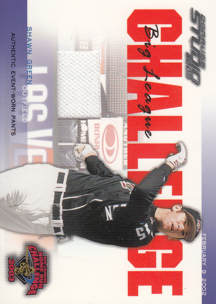 2003 Studio Big League Challenge Materials #39 Shawn Green 02 Pants
