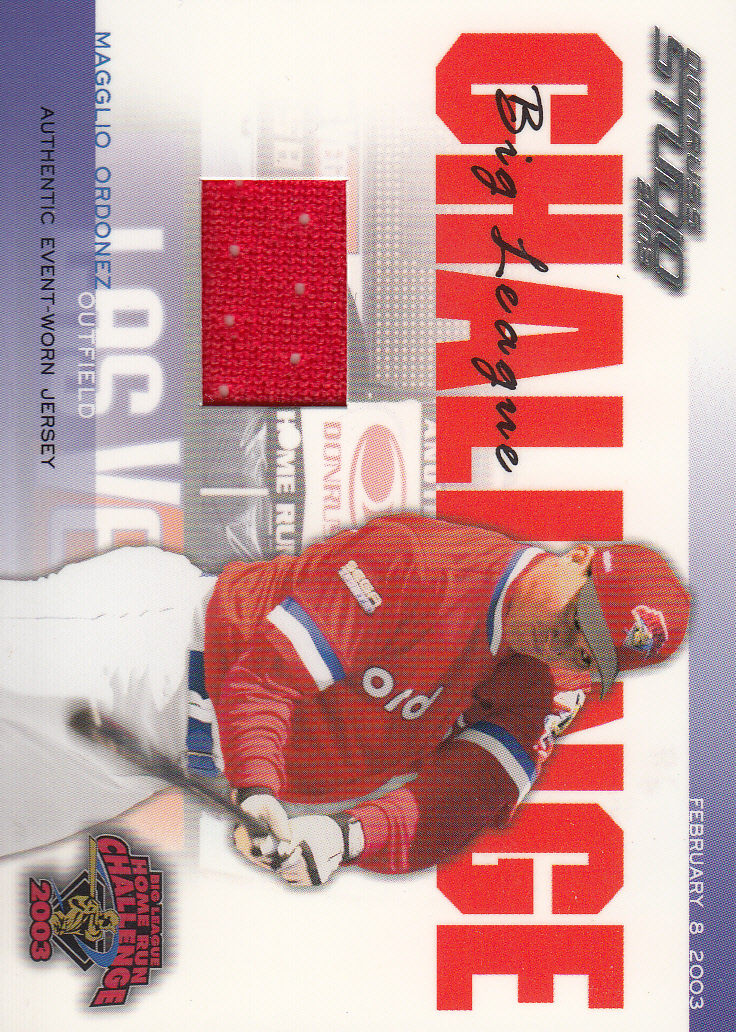 2003 Studio Big League Challenge Materials #43 Magglio Ordonez 03 Jsy