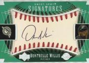 2003 Sweet Spot Signatures Black Ink Holo-Foil #DW Dontrelle Willis