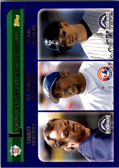 2003 Topps #343 NL Batting Average LL