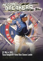 2003 Topps Record Breakers #AR1 Alex Rodriguez 1