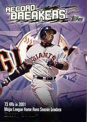 2003 Topps Record Breakers #BB1 Barry Bonds 1